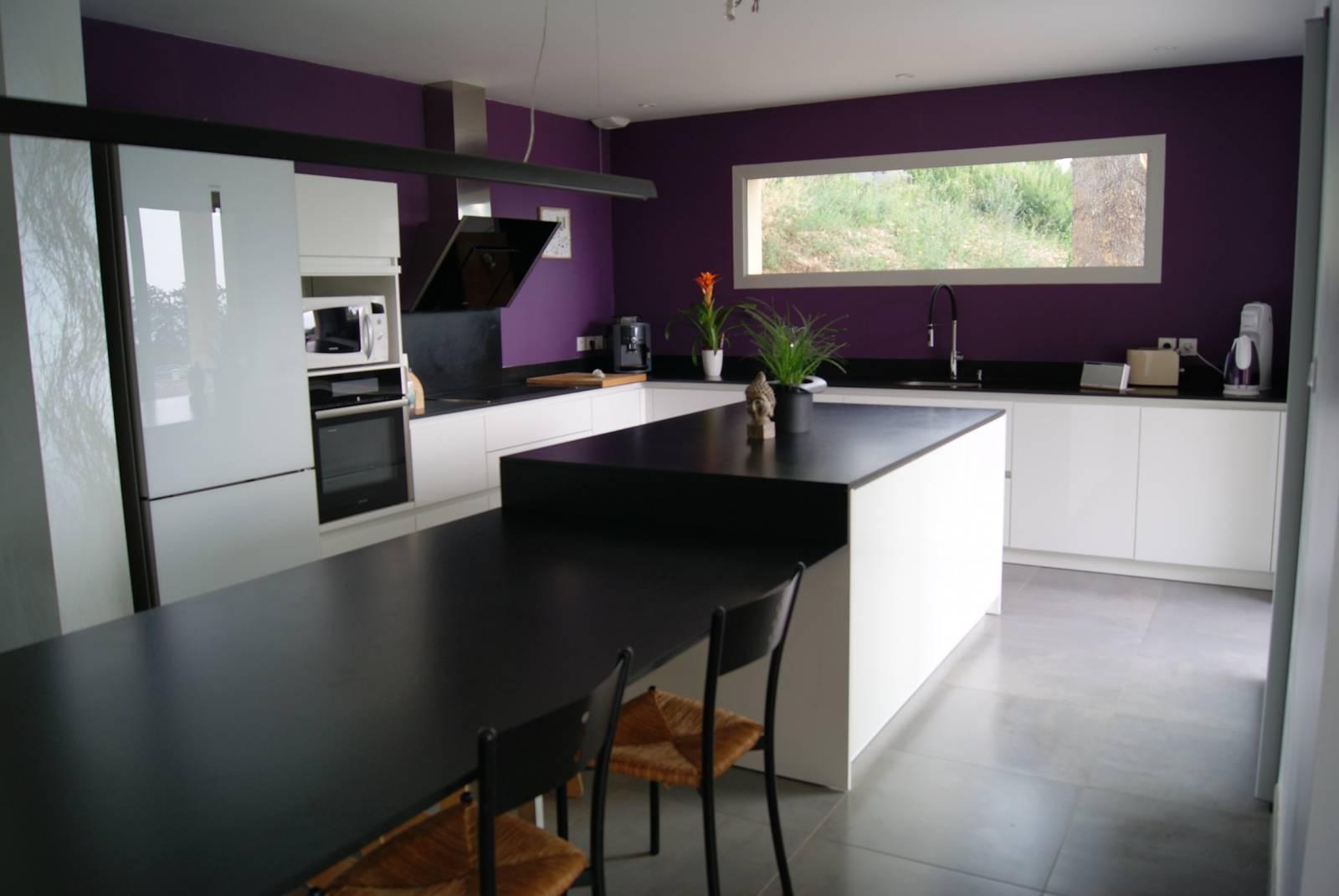 cuisine avec plan de travail en granit saint priest cuisiniste haut de gamme lyon. Black Bedroom Furniture Sets. Home Design Ideas