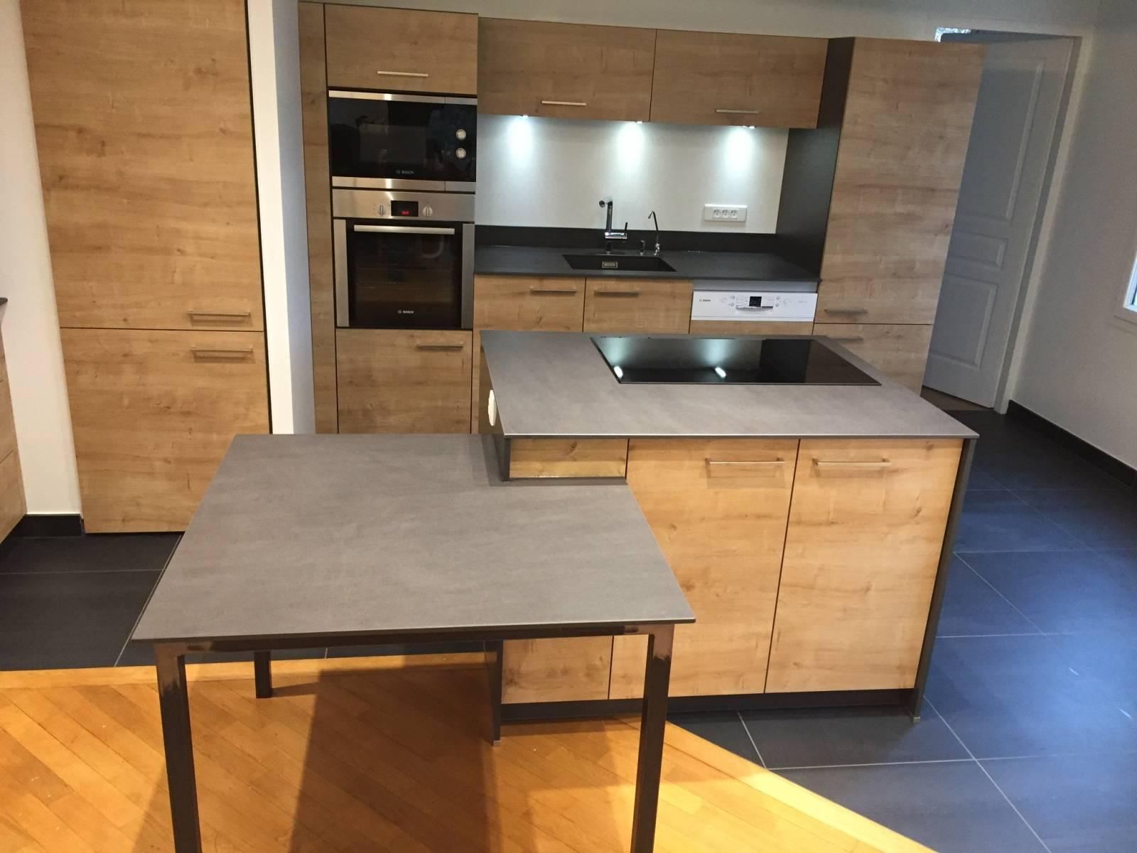 Cuisine Bois Et Plan De Travail Granit A Lyon 6 Cuisiniste