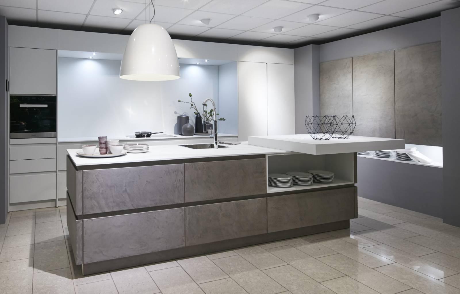 Cuisines en ciment ou b ton cuisiniste haut de gamme lyon am nagement cuisine - Schott cuisine ...