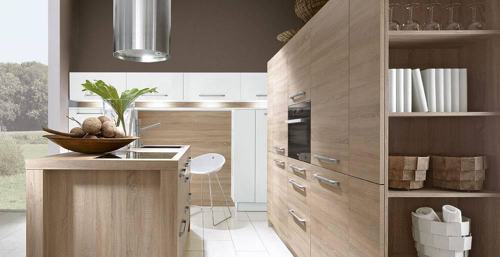 Cuisine aspect bois avec poign es cuisiniste haut de for Cuisine aspect bois